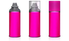 Cosmetic spray bottles set . Vector Stock Photography