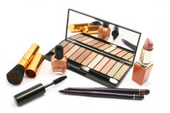 Cosmetic Still Life. Various cosmetics in a group display Stock Photos