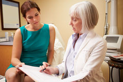 Cosmetic Surgeon Discussing Proceedure With Client In Office Stock Photo