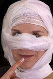 Cosmetic Surgery. Woman getting cosmetic Plastic Surgery on her face Stock Image