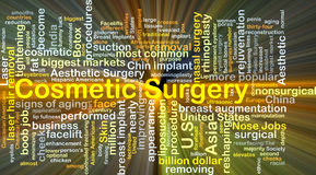 Cosmetic surgery background concept glowing Royalty Free Stock Image