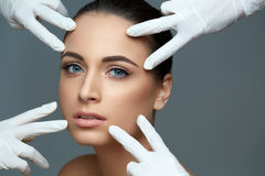 Cosmetic surgery. Beautiful Woman before Plastic Operation. Beau Stock Photography