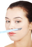 Cosmetic surgery concept. Stock Photo