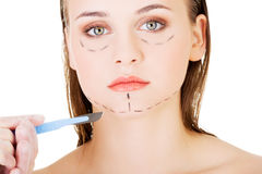 Cosmetic surgery concept. Stock Images