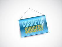 Cosmetic surgery hanging banner Royalty Free Stock Images