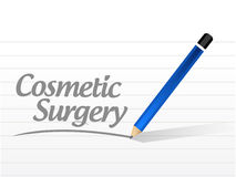 Cosmetic surgery message sign. Illustration design over a white background Royalty Free Stock Images