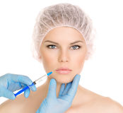 Cosmetic surgery woman Stock Image