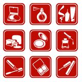 Cosmetic Symbols Royalty Free Stock Image