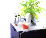 Cosmetic table Royalty Free Stock Image