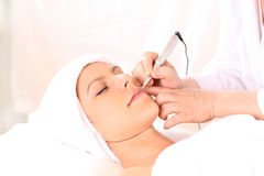 Cosmetic Tattoo. Being applied in beauty clinic royalty free stock photos