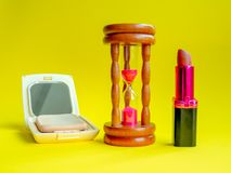 Cosmetic and Time royalty free stock photo