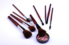 Cosmetic tools Stock Photos