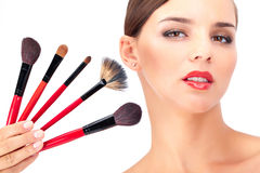 Cosmetic tools Royalty Free Stock Images