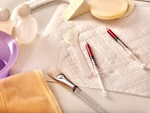 Free Cosmetic Tools, Drugs And Syringes For Beauty Injections. Still Life. Stock Image - 92166371