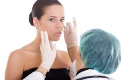 Cosmetic treatment Royalty Free Stock Photo