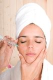 Cosmetic treatment with botox injection Royalty Free Stock Photography