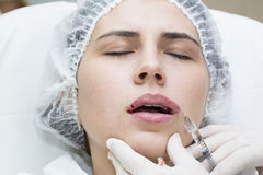 Cosmetic treatment with injection Stock Image