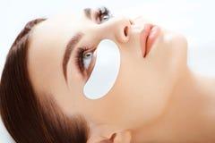 Cosmetic Treatment. Woman Eye with Long Eyelashes. Royalty Free Stock Photos