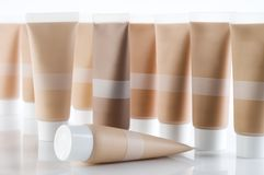 Cosmetic tubes Royalty Free Stock Image