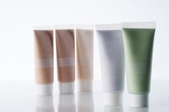 Cosmetic tubes Royalty Free Stock Photos