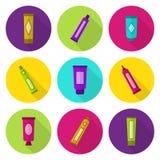 Cosmetic tubes vector icon set Stock Photos