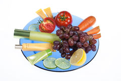 Cosmetic, Vegetables And Fruits Stock Photo