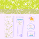 Cosmetic white package, mock-up Royalty Free Stock Images