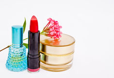 Cosmetic With Flower Stock Photo