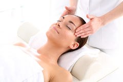 Cosmetic - woman at massage Stock Images