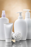 Cosmetical bottles Royalty Free Stock Images