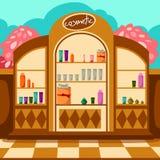 cosmeticen shoppar royaltyfri illustrationer