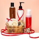 Cosmetici come regalo Fotografie Stock Libere da Diritti
