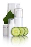 Cosmetici del cetriolo Fotografia Stock