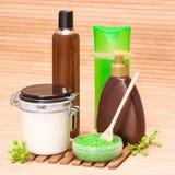 Cosmetici di cura del corpo e della stazione termale Fotografia Stock