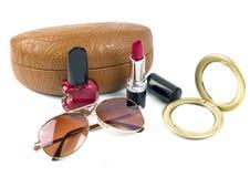Cosmetici di estate messi Fotografie Stock Libere da Diritti