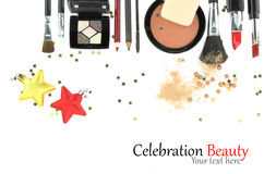 Cosmetici di Natale Fotografie Stock Libere da Diritti