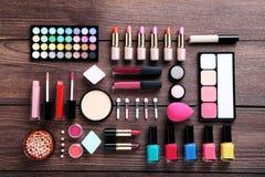 Cosmetici di trucco fotografie stock