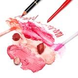 Cosmetici di trucco del labbro Immagini Stock Libere da Diritti
