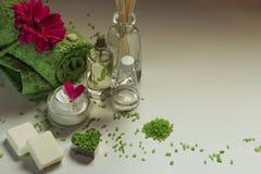 Cosmetici e stazione termale Immagine Stock