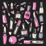 Cosmetici Insieme di trucco Fotografie Stock