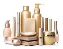 Cosmetici isolati su un fondo bianco Fotografia Stock Libera da Diritti