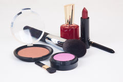 Cosmetici messi Fotografia Stock Libera da Diritti