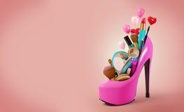 Cosmetici messi Fotografia Stock