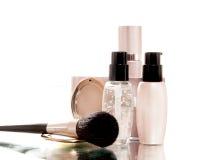 Cosmetici naturali per il fronte della pelle. fotografia stock libera da diritti