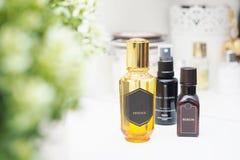 Cosmetici naturali per skincare fotografie stock