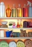 Cosmetici nel bagno Fotografia Stock Libera da Diritti