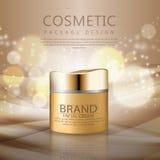 Cosmetici per la crema per il corpo Fotografie Stock