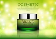 Cosmetici per la crema per il corpo Fotografia Stock Libera da Diritti