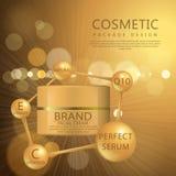 Cosmetici per la crema per il corpo Fotografie Stock Libere da Diritti