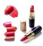 Cosmetici stabiliti del rossetto Fotografia Stock